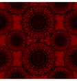 Crimson Red Round Lace Gothic Pattern vector image