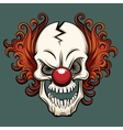 evil clown vector image