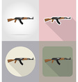 weapon flat icons 02 vector image vector image