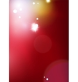 Red blurred shiny abstract background vector image