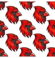 Cartoon cardinal birds seamless pattern vector image