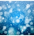 Christmas snowflakes blurred background vector image