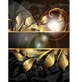 Golden Floral Banner vector image