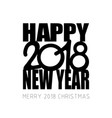 new year and merry christmas 2018 theme vector image