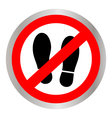 Not Walk icon vector image