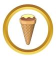 Pistachio ice cream icon vector image