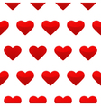 Red hearts seamless pattern white background vector image
