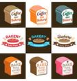Set of loaf bread bakery badge label sticker vector image
