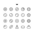 sport balls ui pixel perfect well-crafted vector image