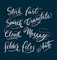 Stock and message hand written typography vector image