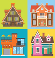 Various buildings house vector image