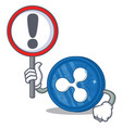 with sign ripple coin character cartoon vector image