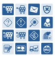 One tone Online Shop Icons vector image vector image