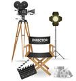 set icons cinema 03 vector image vector image