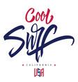 cool surf print t-shirts creative handmade vector image