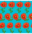 green seamless background with flowers vector image vector image