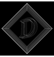 letter D Fonts of Mesh vector image
