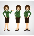cute cartoon of a beautiful business vector image