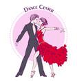 dance line color ballroom dancing latina vector image