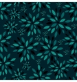 Flower Leaves Seamless Pattern Background vector image