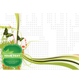 Label with abstract background vector image