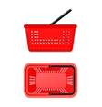 Two Views Of Supermarket Basket vector image