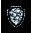 Diamond Shield Sign vector image vector image