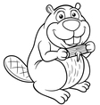 Beaver outline vector image
