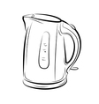 Object Kettle bw vector image vector image