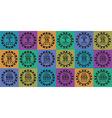 poker chips set black on color vector image