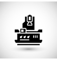 Vertical milling machine icon vector image