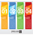 Abstract colorful vertical banner EPS10 vector image
