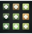 apps icon set with the image of clover vector image