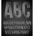Black alphabet vector image