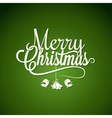 Christmas Logo Lettering On Green Background vector image