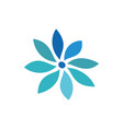 circle flower logo image vector image