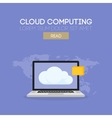 Cloud computing banner concept vector image
