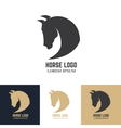 Emblem template with horse head Design elements vector image