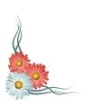 Floral corner vignette vector image