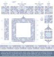 flower decorative ornaments building kit - blue vector image