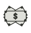 money icon on white background money sign flat vector image