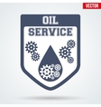 Oil Motor Service Signs and Label vector image