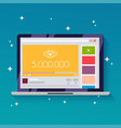 online video with 5 million views flat design vector image