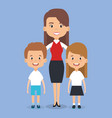 teacher school with children avatar character vector image