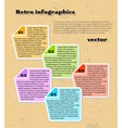 yellow infographics vector image
