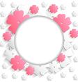 flat flower round vector image