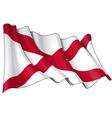 St Patricks Saltire Northern Irish Flag vector image