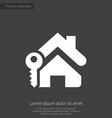 home key premium icon white on dark background vector image