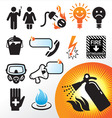 symbol extinguisher vector image vector image