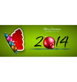 2014 Christmas and New Year Colorful Background vector image vector image